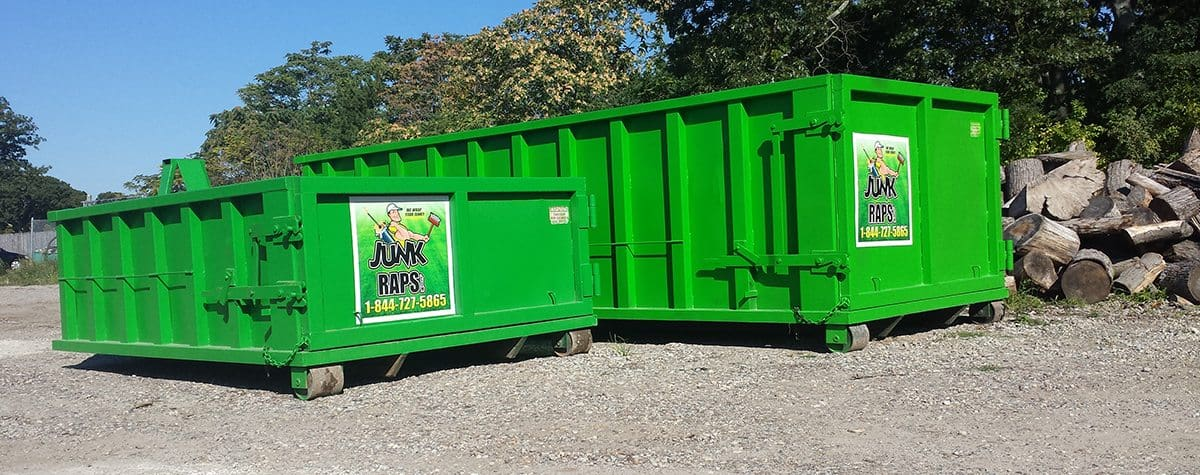 junk raps dumpsters sizes small and large